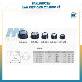 Núm Triết Áp 6MM MF-A03 (Đen)