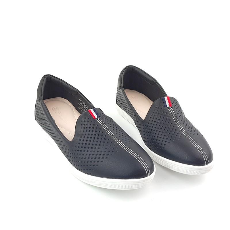 Giày Bệt Nữ Slipon da thật nâng đế độn Đế 3p/3cm Thời Trang trẻ trung siêu êm VNXK