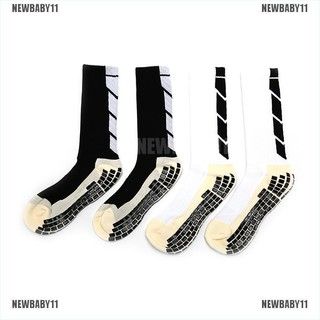 [NEWBABY11] Sport Socks Anti Slip Soccer Socks Men Cotton Football Socks Soccer high socks