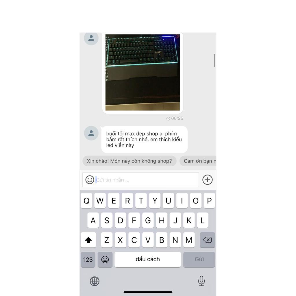 Bàn phím Gaming G-Net K68 - Led Rainbow - Blue Switch - Switch quang học - Màu đen - Bảo hành 12 tháng