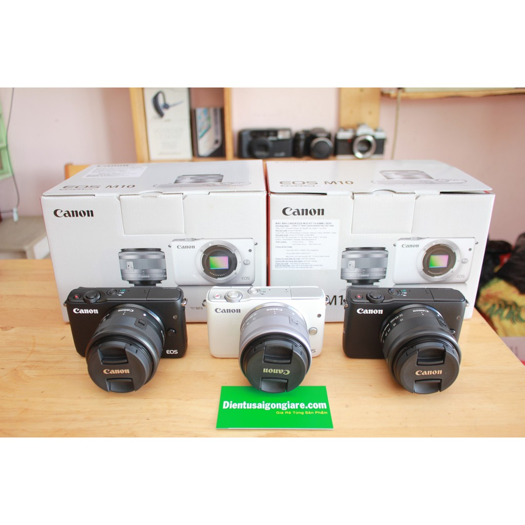 Máy ảnh Canon EOS M10 Kit EF-M 15-45mm F/3.5-6.3 IS STM
