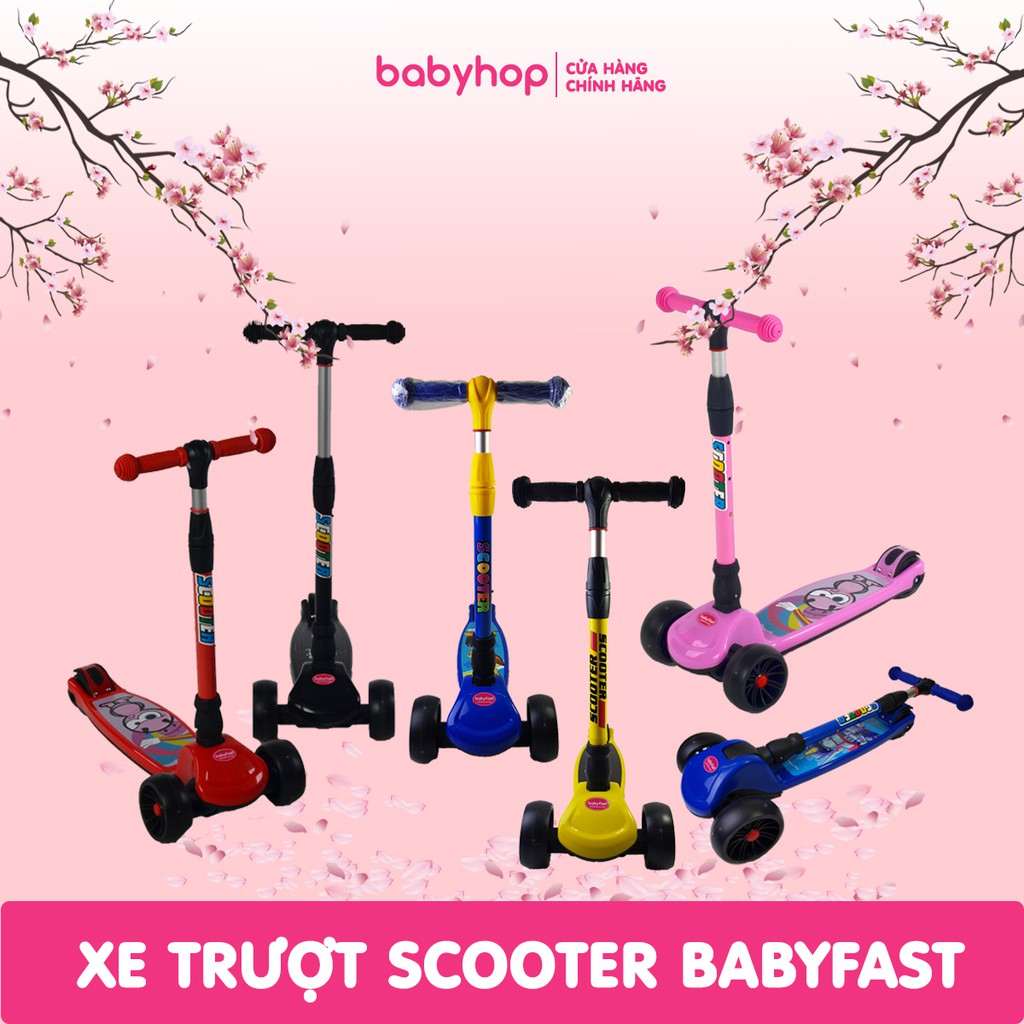 Xe trượt scooter trẻ em babyfast bánh to của babyhop
