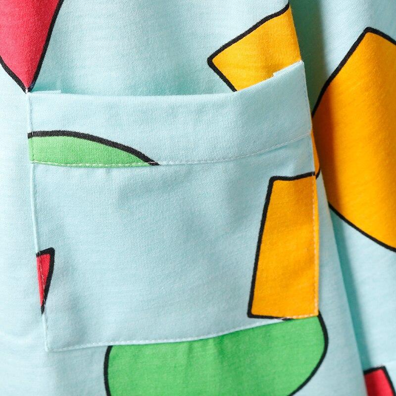 Mặc gì đẹp: Ngủ ngon với Bộ đồ ngủ 3 món áo thun tay ngắn dáng rộng in họa tiết hình học dễ thương thời trang cho nam và nữ