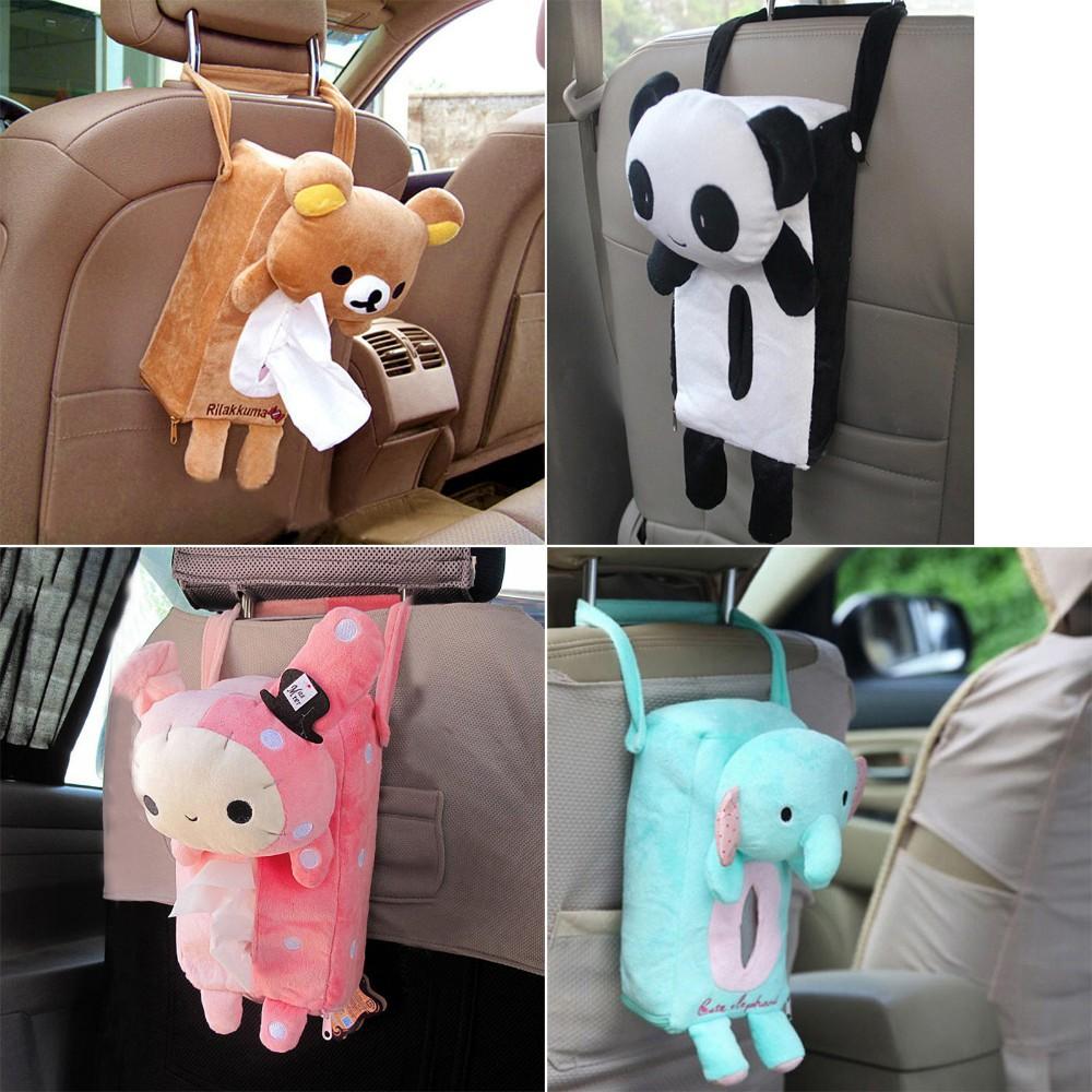 Túi đựng hộp khăn giấy hình các con vật đáng yêu