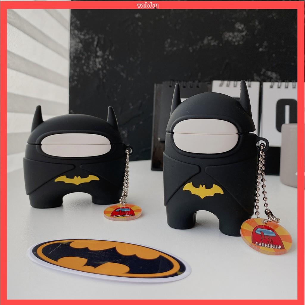 Vỏ Đựng Bảo Vệ Hộp Sạc Tai Nghe Airpods Hình Batman