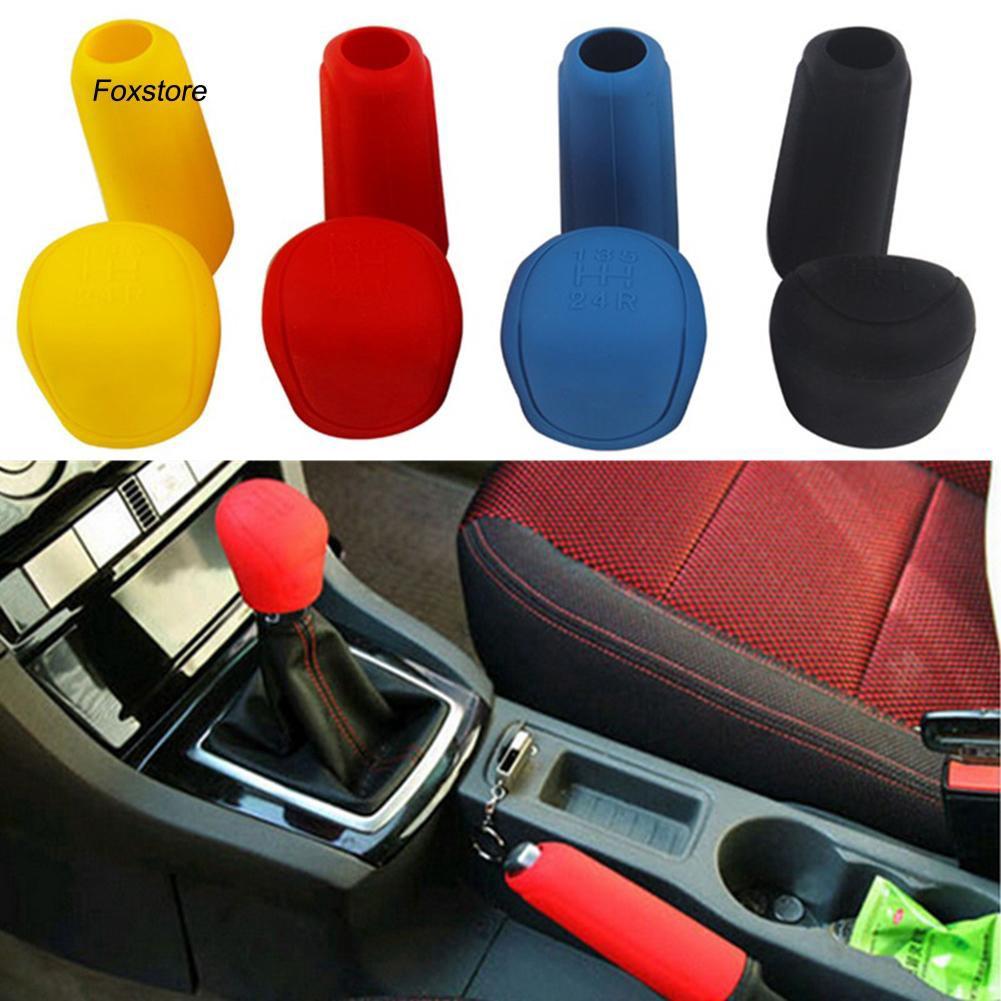 FXTE_Car Styling Handbrake Grips Interior Shift Collar Silicone Gear Knob Cover Tool