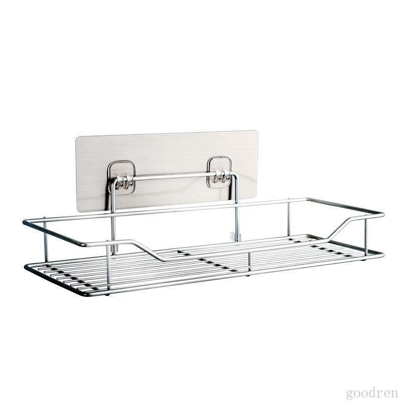 Giá gia vị để đồ inox dán tường Kệ treo tường nhà tắm phòng bếp inox