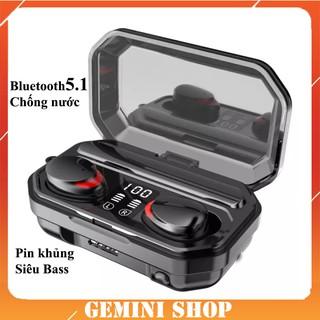 Tai nghe Bluetooth 5.1 True Wireless M15 không dây TWS kháng nước, chống mồ hôi tích hợp micro âm thanh 9D