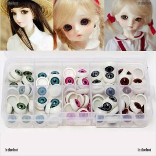 Inthehot☆ 1 Pair/Set 12Mm Doll Eyeballs Half Round Acrylic Eyes For Diy Doll Bear Crafts