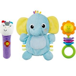 Set 3 đồ chơi cầm tay xúc xắc chíp chíp voi hổ sư tử gặm nướu cho bé sột soạt Winfun 3026 3027 3028 cho bé từ 0-12 tháng thumbnail