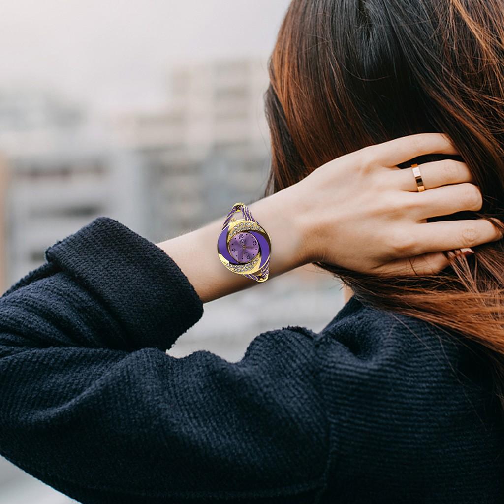 Đồng hồ đeo tay đính đá thời trang sang trọng cho nữ