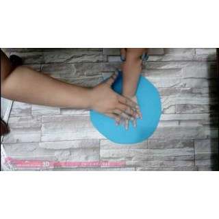 Hộp tròn ghi dấu tay chân bé( làm quà tặng cho các bé cũng rất ý nghĩa)