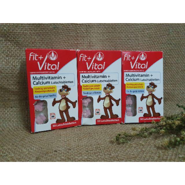 🌞 Vitamin tổng hợp FIT+VITAL Multivitamin + Calcium Lutschtabletten