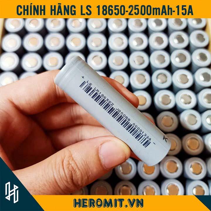 Pin Cell 18650 2500mAh 2000mAh Chuẩn Dung Lượng