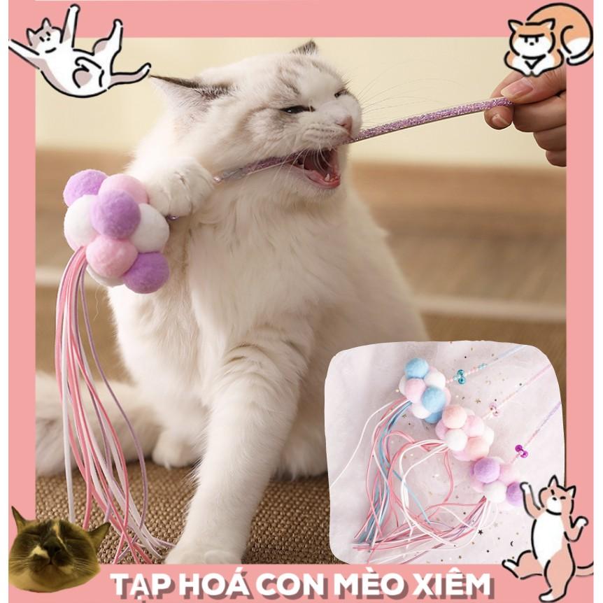 Đồ chơi cần câu cho thú cưng chó mèo cục bông cực xinh