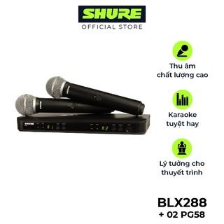 Micro không dây Shure BLX288A/PG58 nổi tiếng - Hàng chính hãng - Micro Shure dành cho phòng trà, hội thảo và Karaoke
