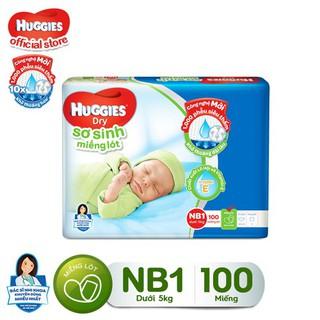 """Miếng lót Sơ Sinh Huggies NB1 100 miếng - NB 1 100 (gói 100 miếng) giá chỉ còn <strong class=""""price"""">10.900.000.000đ</strong>"""