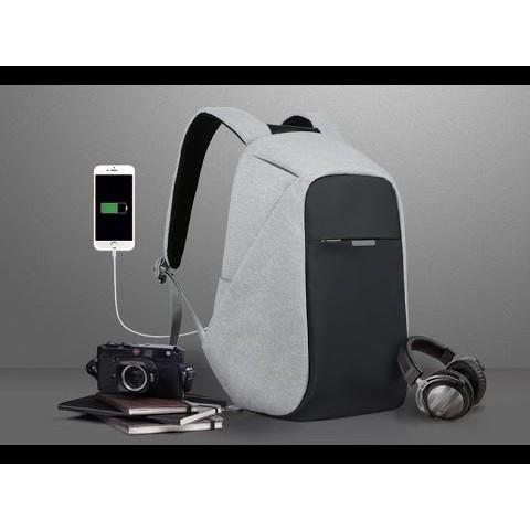 Balo chống trộm, chống nước Có Cổng Sạc USB vừa laptop 16inch LOẠI DÀY 1120 (xám)