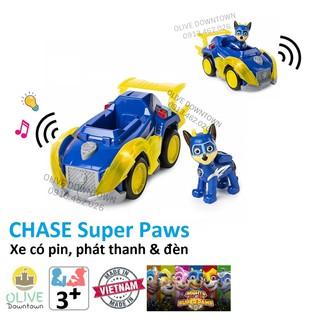 BỘ LỚN Chase lái xe siêu tốc có đèn & nhạc – Những chú chó cứu hộ Paw Patrol