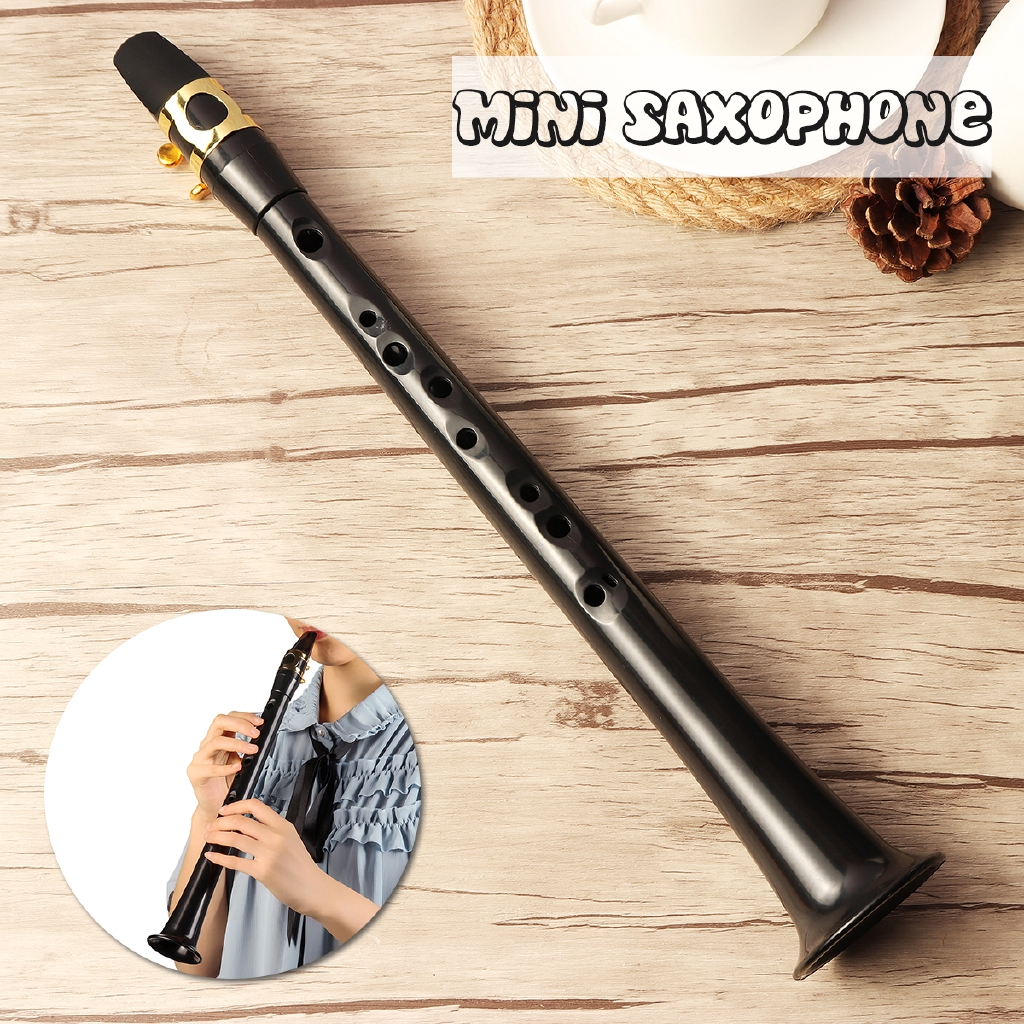 New Black Simple Saxophone Alto Little Sax Mini Pocket Sax Carrying Bag