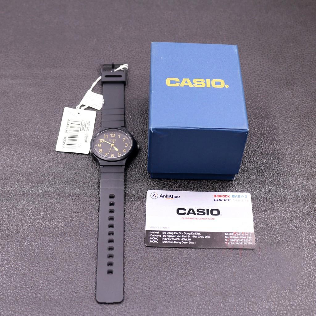 Đồng hồ nam dây nhựa Casio Standard MW-240-1B2VDF chính hãng Anh Khuê