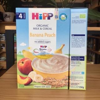 Bột dinh dưỡng HiPP sữa chuối đào cho bé từ 4 tháng tuổi