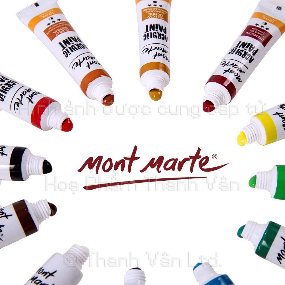 Màu Acrylic Mont Marte hộp bộ 12 18 và 24 màu tuýp 12ml
