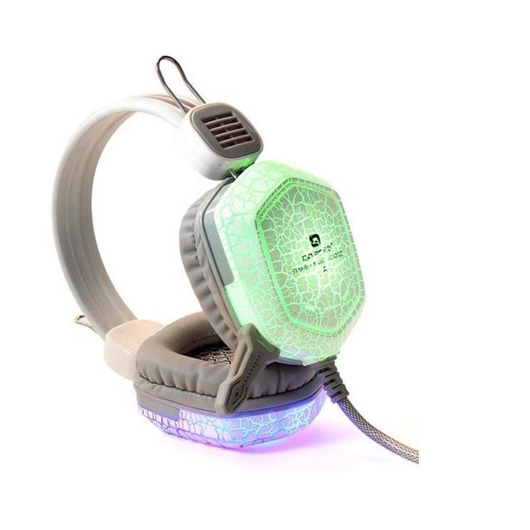Tai nghe Qinlian A7 đèn LED đổi màu (Trắng) -dc2434