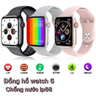 Đồng hồ thông minh watch 6 màn hình tràn viền thay được dây theo dõi sức khoẻ
