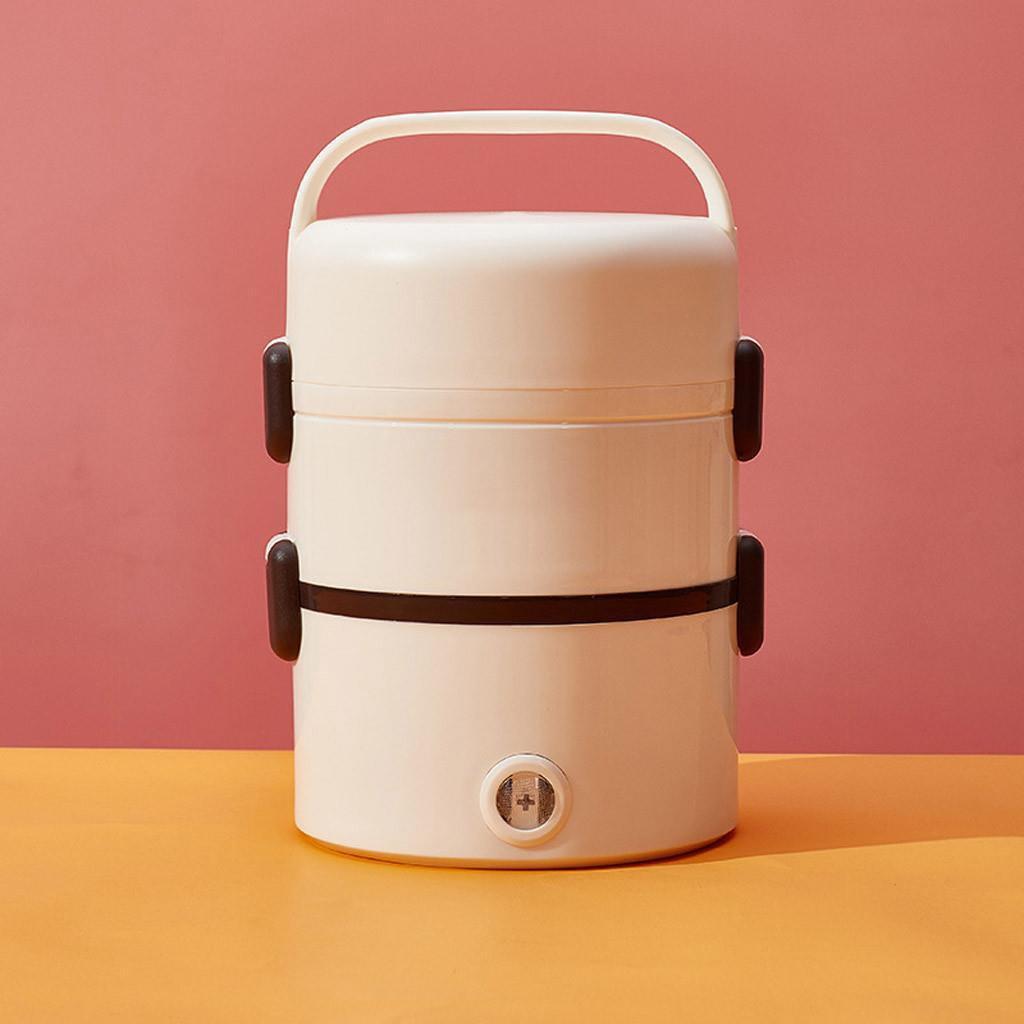 Hộp cơm cắm điện văn phòng 1 tầng 2 bát inox có chức năng giữ nhiệt, hâm đóng và tự nấu chín thức ăn đa năng