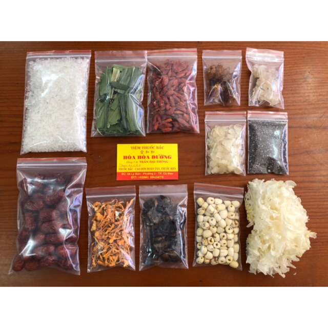 CHÈ DƯỠNG NHAN (12 vị - 540g) nấu 20 chai