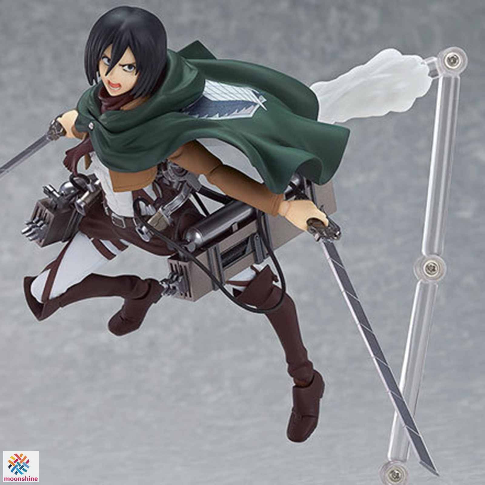 ❤PG❤ Attack on Titan Mikasa Ackerman PVC Figure Changeable Face Anime Action Figure Model Toy