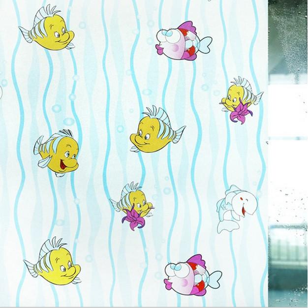 5M Giấy Dán Kính họa tiết cá vàng không cần keo