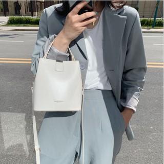 Túi da nữ trơn cúc bấm 2 dây tiện lợi - MA209 thumbnail