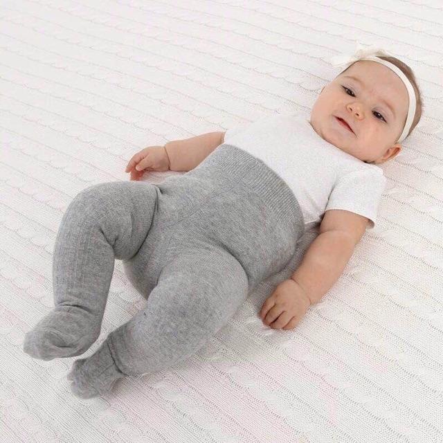 Quần tất len gân liền bàn cho bé