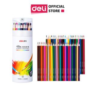 Hình ảnh Bút chì màu chuyên nghiệp dạng cốc Deli 24/36/48 màu - 68123/68124/68125-0