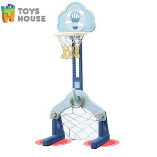 Bộ đồ chơi thể thao đa năng 3 trong 1 - cột bóng rổ kiêm bóng đá, ném vòng Toyshouse - L-LQJ18