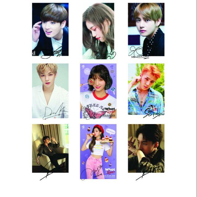 Lomo Card - in ảnh Idol Kpop, ảnh cá nhân theo yêu cầu set 27-45-90 card EXO BTS WANNA ONE SNSD TWIC
