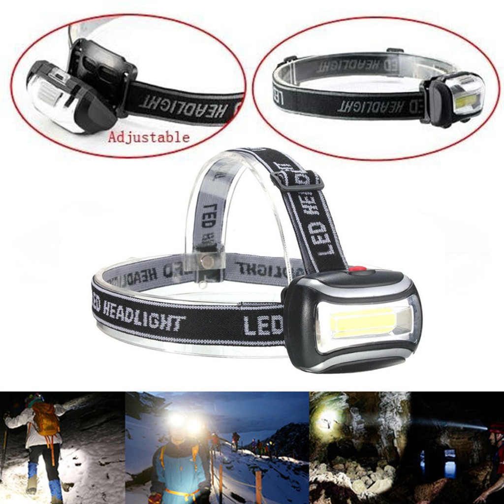 600 Lumens 3W Outdoor Working COB Headlight Lamp Headlamps Flashlight Black gogoxpmall