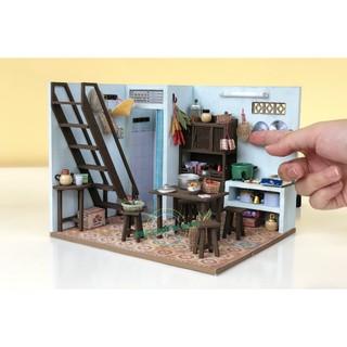 Mô hình nhà gỗ DIY – TX02 – Bếp của mẹ (Tặng keo dán + Mica che bụi)