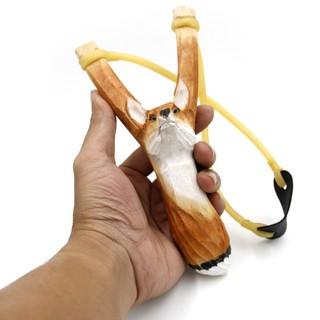 (Chạc 8.5) Ná gỗ 1 dây tròn hình thú (Hình con cáo) – ná mẫu #66 – Bullcaptain