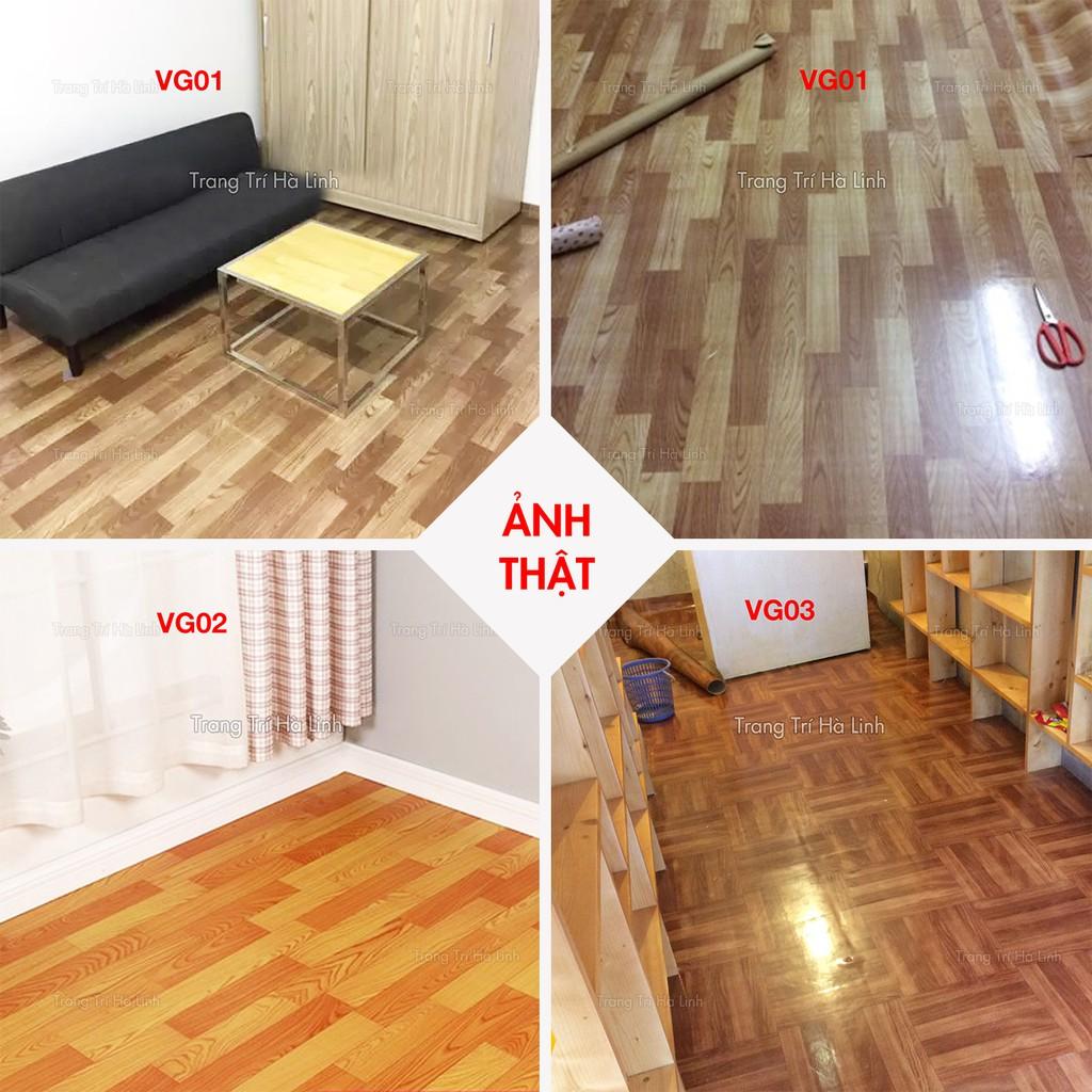 Simili Trải Sàn Nhà - Thảm Nhựa Lót Sàn PVC Giả Vân Gỗ Chống Trơn Trượt - Trang Trí Hà Linh