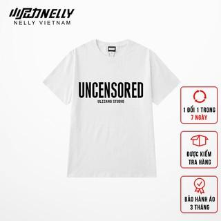 Áo thun unisex NELLY dáng rộng chất cotton in hình uncensored thumbnail