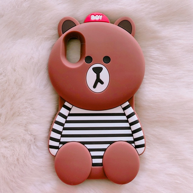 Ốp lưng iPhone X gấu brown cute - 3030603 , 950702848 , 322_950702848 , 80000 , Op-lung-iPhone-X-gau-brown-cute-322_950702848 , shopee.vn , Ốp lưng iPhone X gấu brown cute