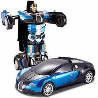Xe ô tô biến hình thành siêu nhân chạy pin có đèn nhạc