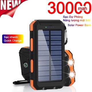 30000mAh sạc dự phòng năng lượng mặt trời, dung lượng cao di động Sạc không thấm nước với LED Power bank