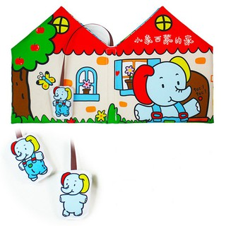 English And Chinese Baby Early Education Stereo Cloth Book
