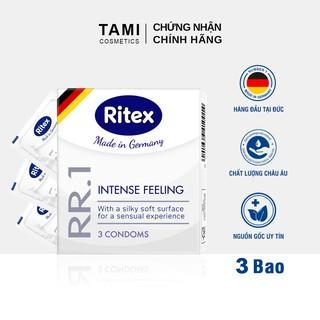 Bao cao su RITEX RR.1 Cảm xúc mãnh liệt Ôm sát hoàn hảo Hàng đầu tại Đức [Hộp 3 chiếc] Có che tên RI- thumbnail