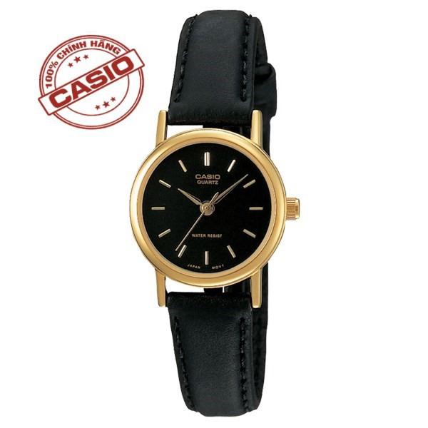 Đồng hồ nữ Casio LTP-1095Q-7A Chính hãng dây da mặt đen