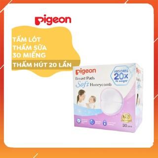 Miếng lót thấm sữa Pigeon 30 miếng, hộp 30 miếng, siêu mềm dành cho mẹ cho con bú và sau sinh.